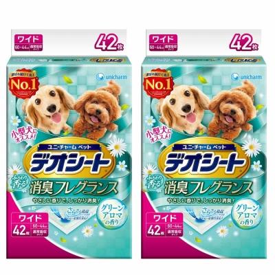 日本Unicharm消臭大師 小型犬狗尿墊 森林香 LL號 42片裝 x <b>2</b>包