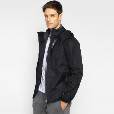 GIORDANO男裝三合一山系防潑水防風反光拉鍊保暖衝鋒衣外套-09-經典黑色