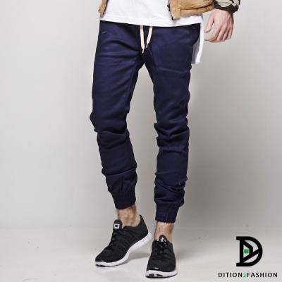 DITION 機能JOGGER素色縮口褲 飛線跑褲 單車工作褲