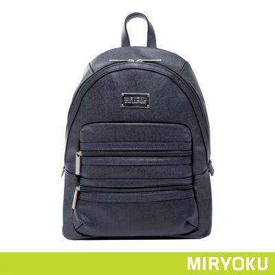 MIRYOKU青春斜紋系列-校園風拉鍊後背包-共3