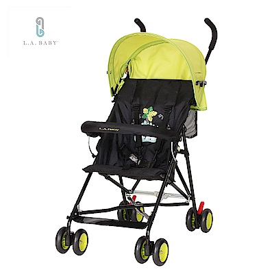 (美國 L.A. Baby) 亮彩輕便嬰兒手推車(炫彩綠)