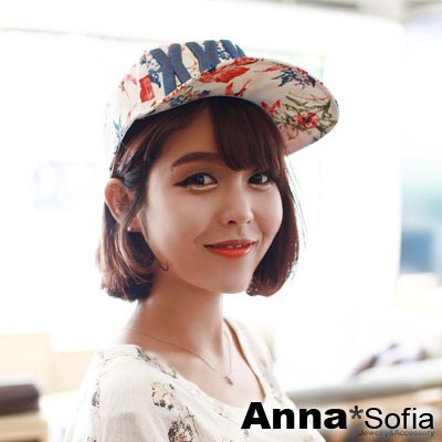 AnnaSofia-熱帶繪花XXXXL-嘻哈帽平簷
