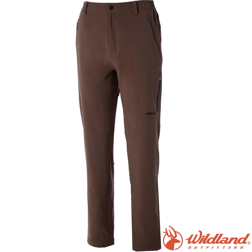 Wildland 荒野 0A52312-63深卡其 男彈性輕薄防風防潑褲*大尺碼*