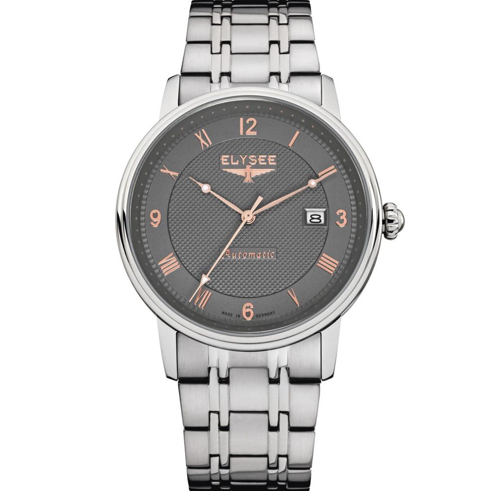 ELYSEE Monumentum 紳士自動機械錶-灰/41mm