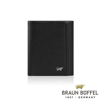 BRAUN BUFFEL -ANDRO 安卓系列7卡三折皮夾 - 太空黑
