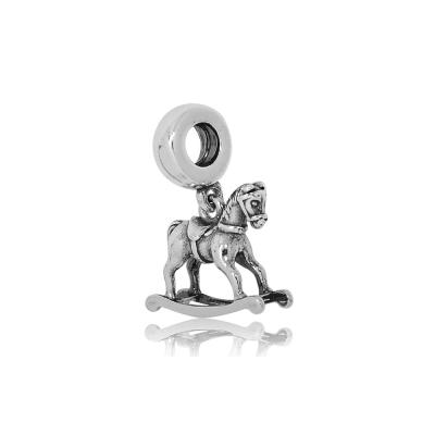 Pandora 潘朵拉 垂墜木馬造型 純銀墜飾 串珠