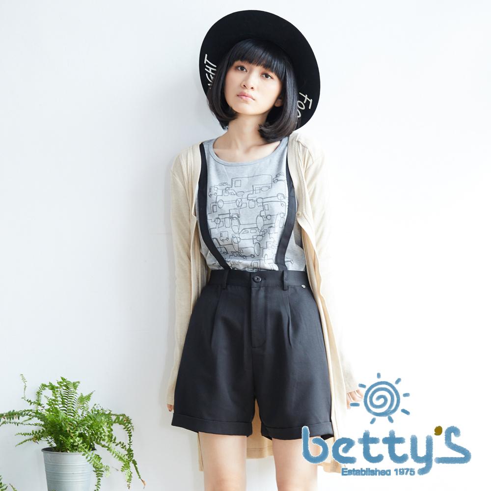 betty's貝蒂思 點綴低調金蔥長版針織外套(卡其色)