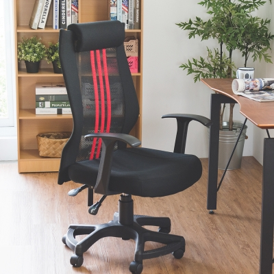 Home Feeling 高背曲線頭靠腳踏電腦椅/辦公椅(4色)
