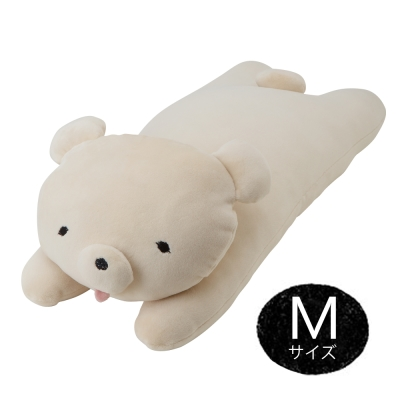 MOCHIKUMA 懶人麻吉熊M抱枕(米白)