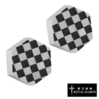 Royal Damon羅亞戴蒙 幾何格紋 耳環