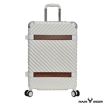 RAIN DEER 賽維亞20吋PC+ABS亮面行李箱-天使白