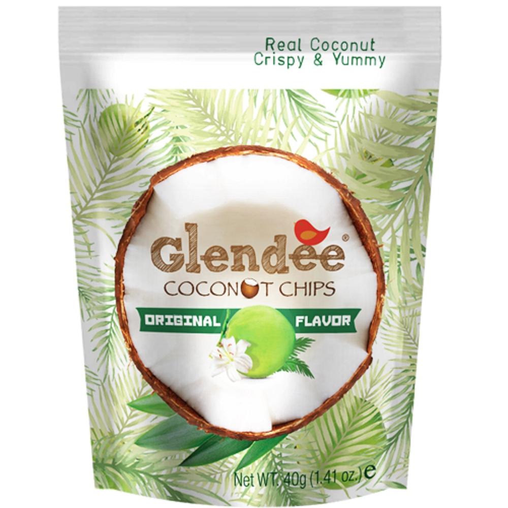 Glendee 椰子脆片-原味40g