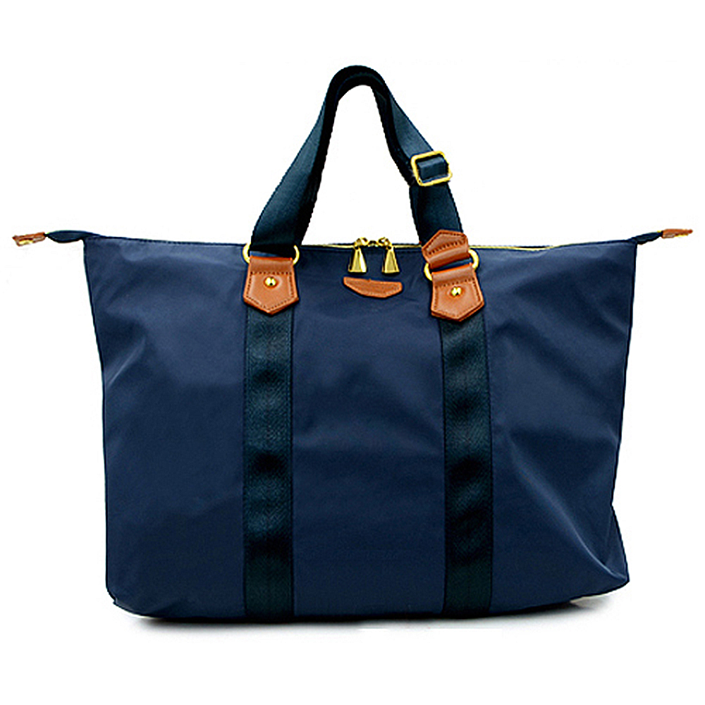 FUNNNY 日本同步 人氣熱銷款 2way輕量尼龍旅行包 深藍 (快)