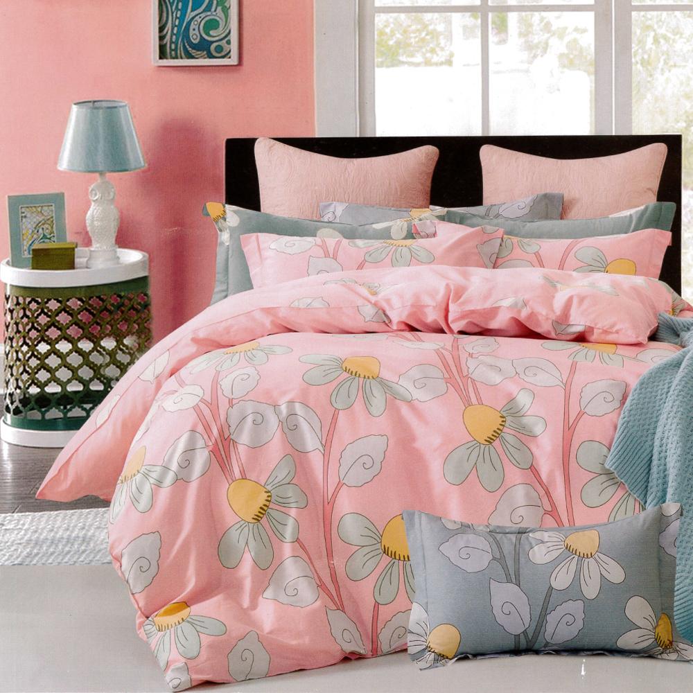 生活提案 純棉涼被床包組四件組-鄰家小妹/雙人