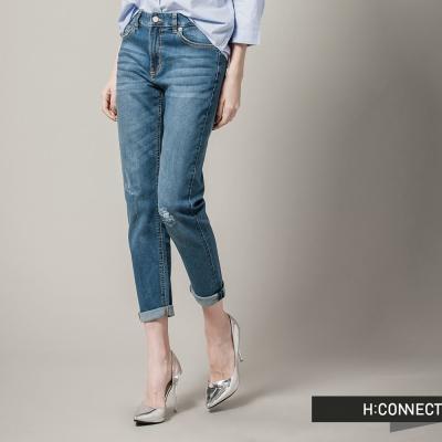 H-CONNECT-韓國品牌-女裝-經典純色刷白微