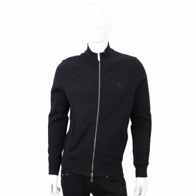 BURBERRY 黑色戰馬刺繡金拉鍊棉質外套