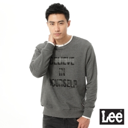 Lee 英文字母印刷厚棉T恤/RG-男款-灰色
