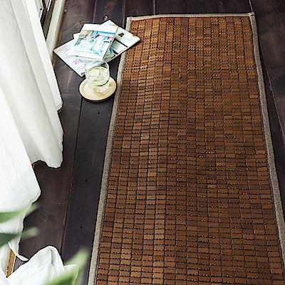 絲薇諾 3D透氣包邊炭化專利麻將竹坐墊-3人座(50×160cm)