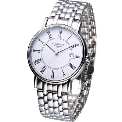 LONGINES  Presence 經典紳士時尚腕錶-白/38.5mm