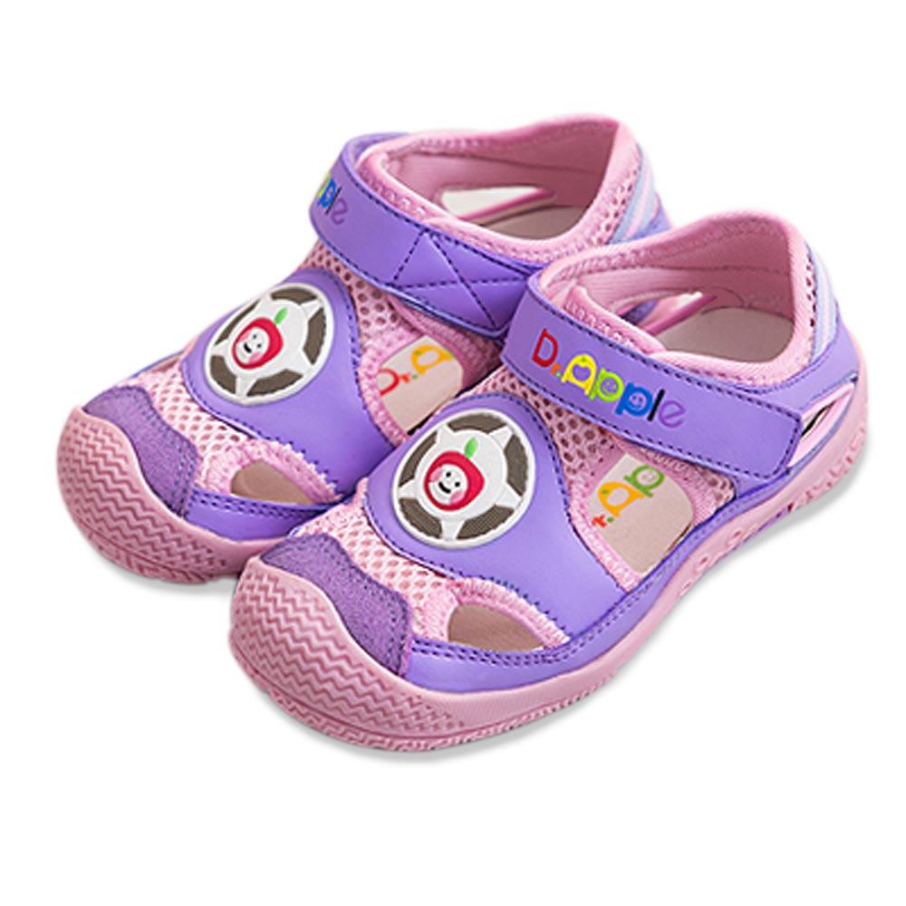 【Dr. Apple 機能童鞋】玩色拼接透氣舒適童鞋  紫