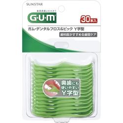 GUM 牙周護理牙線棒Y型(30支入)