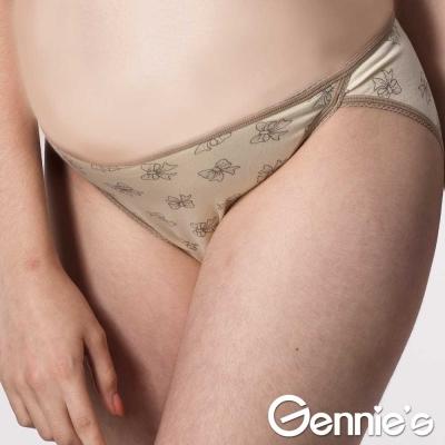 買一送一-Gennie-s奇妮-甜心mommy蝴蝶結孕婦低腰內褲-粉黃-HB56