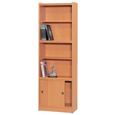 時尚屋 豪豐2x6尺玻璃拉門書櫃 寬60cm 多色可選-免組