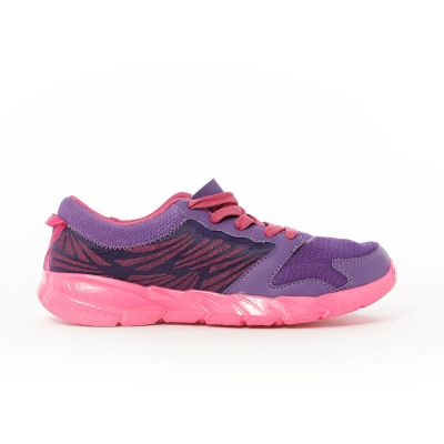 TOP GIRL-飛線網布透氣慢跑運動鞋-紫