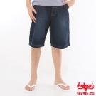 BOBSON 男款寬版牛仔短褲(深藍131-52)