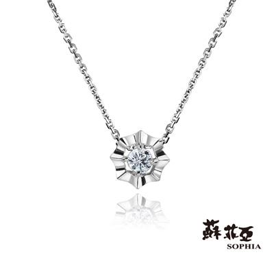 蘇菲亞SOPHIA-日本輕珠寶-Flower系列0-05克拉鑽鍊