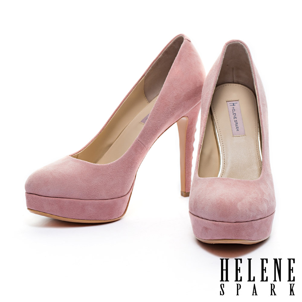 高跟鞋 HELENE SPARK 經典優雅羊麂皮美型高跟鞋-粉
