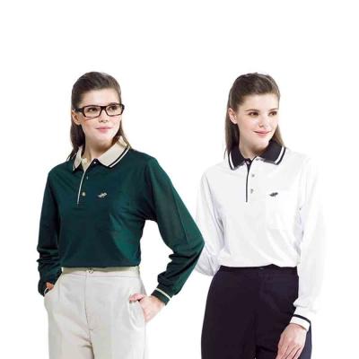 【Londa Polo】吸濕排汗中性版長袖POLO衫(PK5060)墨綠色