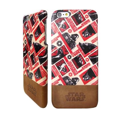 電影授權星際大戰 iPhone 6/6s i6s 4.7吋雙料皮革手機殼(紅色黑...