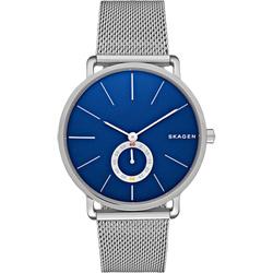 SKAGEN Hagen 小秒針腕錶-藍x銀/40mm