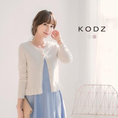 東京著衣-KODZ 浪漫荷葉金屬釦針織衫聯名款-S.M.L(共二色)