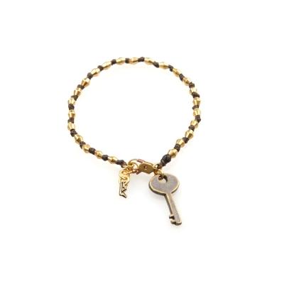 Wakami 許願鑰匙手環-咖啡色