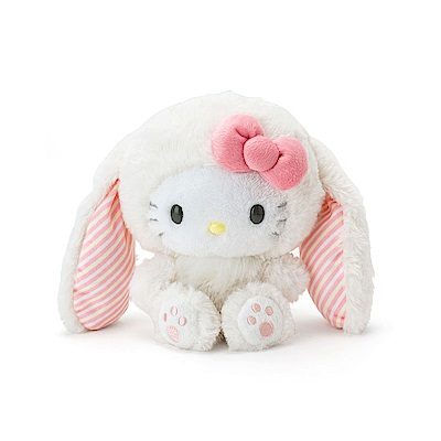 Sanrio HELLO KITTY裝扮長耳兔造型超柔舒絨毛娃娃