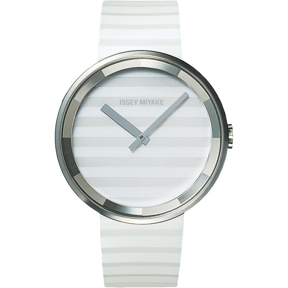 ISSEY MIYAKE 三宅一生PLEASE時裝系列腕錶SILAAA02Y-白/40mm