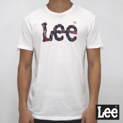 Lee 短袖T恤 哈日風格logo印刷 -男款-白色