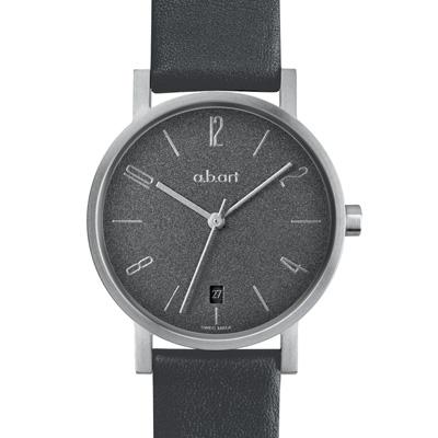 a.b.art OS系列 包浩斯基本經典女錶-霧灰/31.5mm