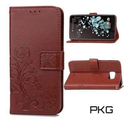PKG HTC  U ULTRA皮套-側翻磁扣-經典棕