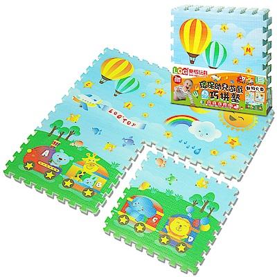 LOG樂格環保EPE幼兒遊戲巧拼墊動物火車60X60cmX厚2cmX4片
