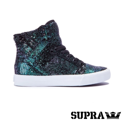 SUPRA Skytop系列女鞋-綠/亮片