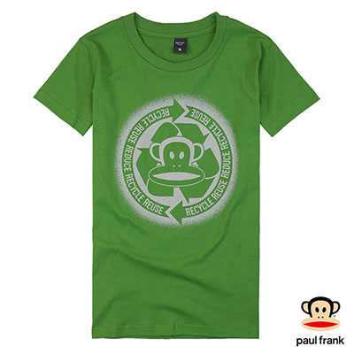 Paul Frank-環保Julius印花短袖T恤-綠色(女)
