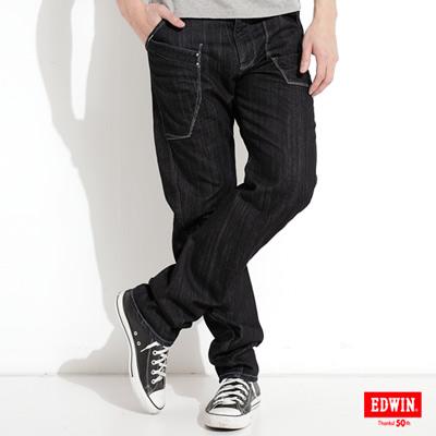 EDWIN-E-FUNCTION-窄直筒牛仔褲-男款-原藍色