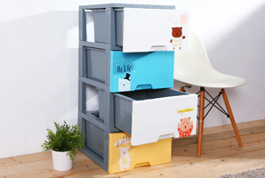 嗨小熊DIY四層收納櫃