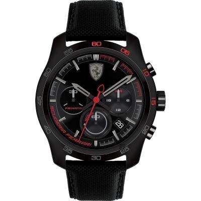 Scuderia Ferrari 法拉利 PRIMATO 計時手錶-黑框/44mm