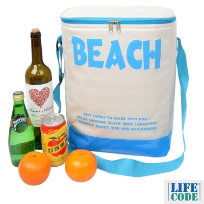 LIFECODE-BEACH 高桶保冰袋/購物袋/沙灘袋(23L)-2色可選
