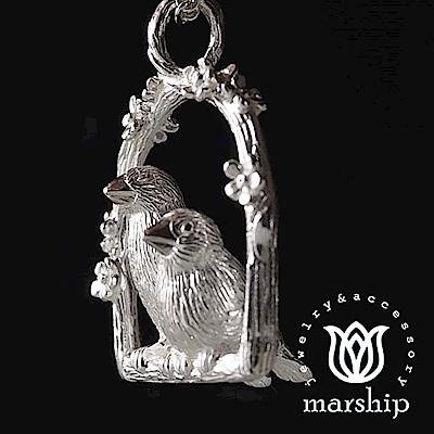 Marship 日本銀飾品牌 文鳥項鍊 好朋友款 925純銀 亮銀款
