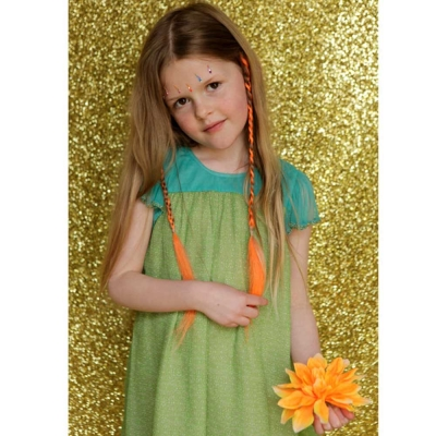 I Love Gorgeous 娃娃荷葉紡紗袖晚禮服-草綠
